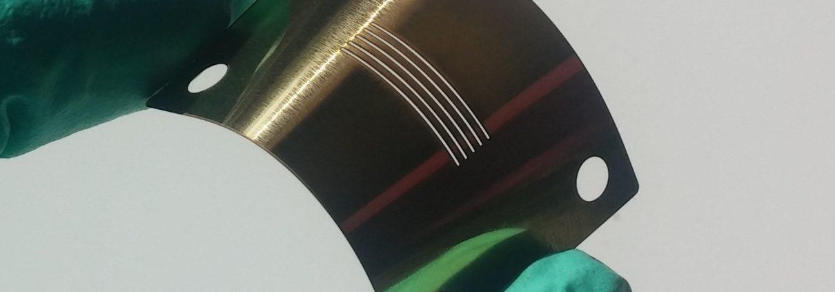 Laserschneiden von Gitterblenden, Schablonen, Masken aus Metall